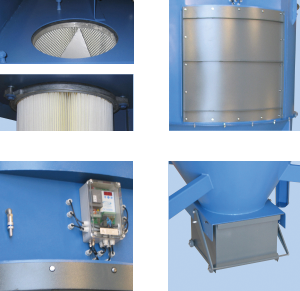 ACF - Dust-free filter change, filter condition, service/automatic control, dust container Quicklock